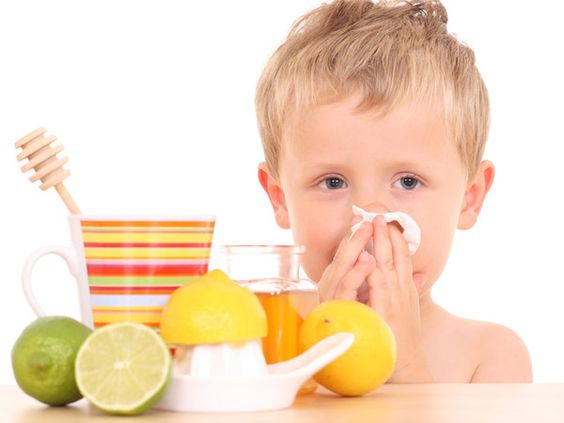boy increasing his immune system with vitamin C
