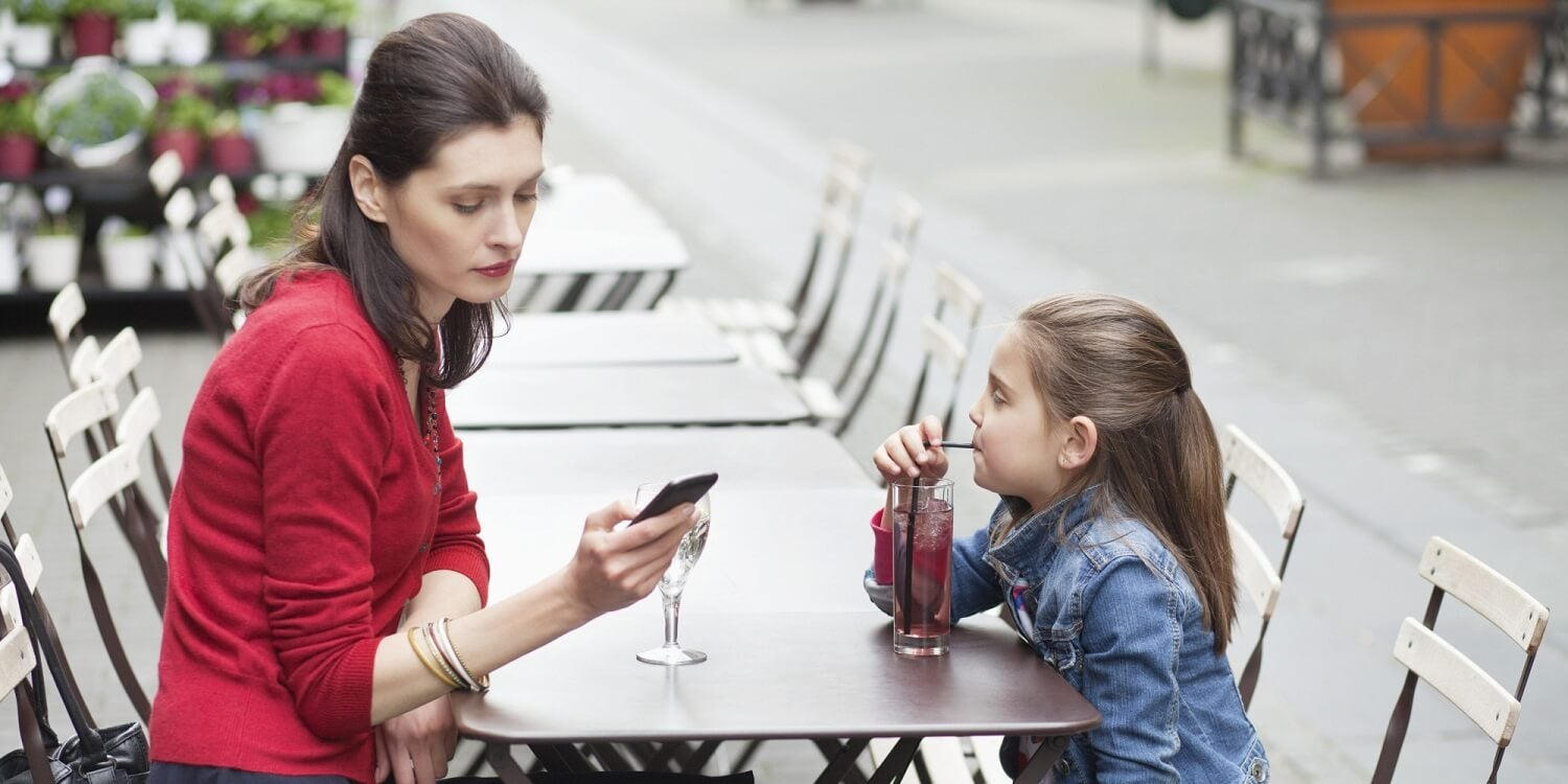 Cell phone addiction affects children