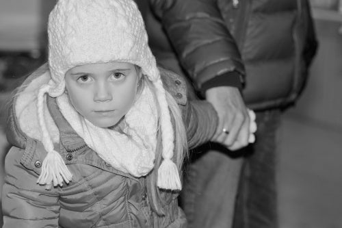 child with winter coat on