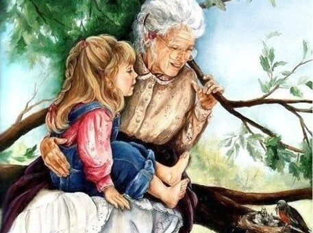 Grandparents-grandchild-painting