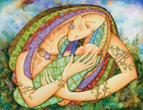 Teckning av moderskap
