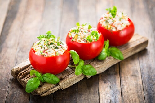 Fyllda tomater som middagsförslag