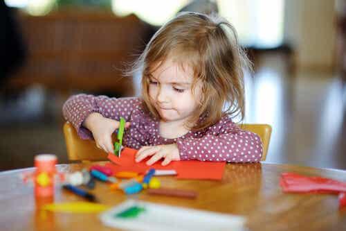 Teaching Children How to Cut Using Scissors