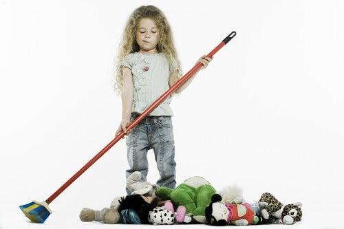 pige der fejer legetøj sammen