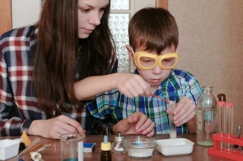 Enjoying science experiments with children