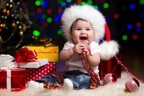 Christmas baby pictures.