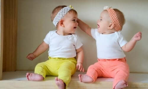 Twins dressed the same.