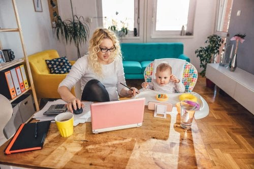 The Challenge of Caring for Children While Working from Home