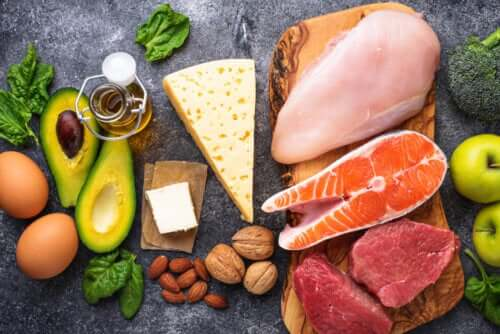 A variety of ketogenic foods.