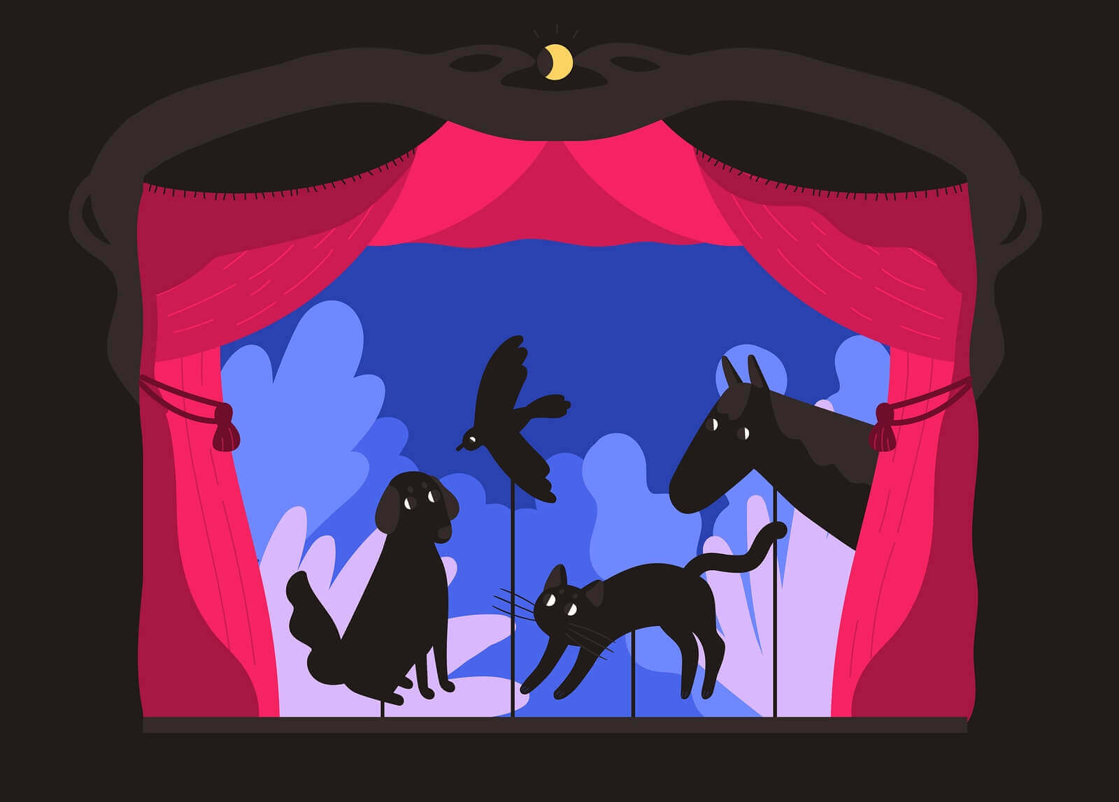 How to make a shadow puppet theater.