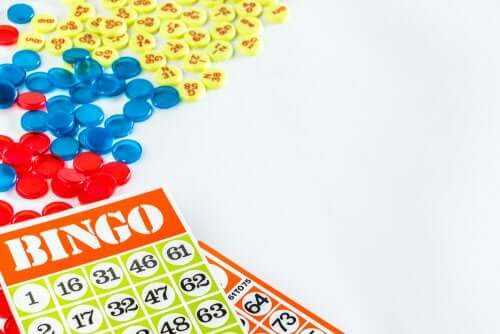 Bingo chips and cards.