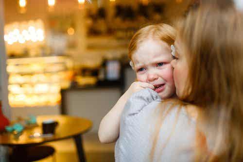 Girl crying.