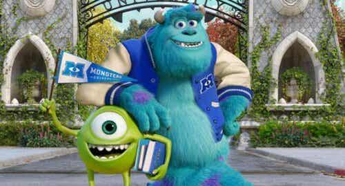Sully i Mike z Uniwersytetu potwornego.