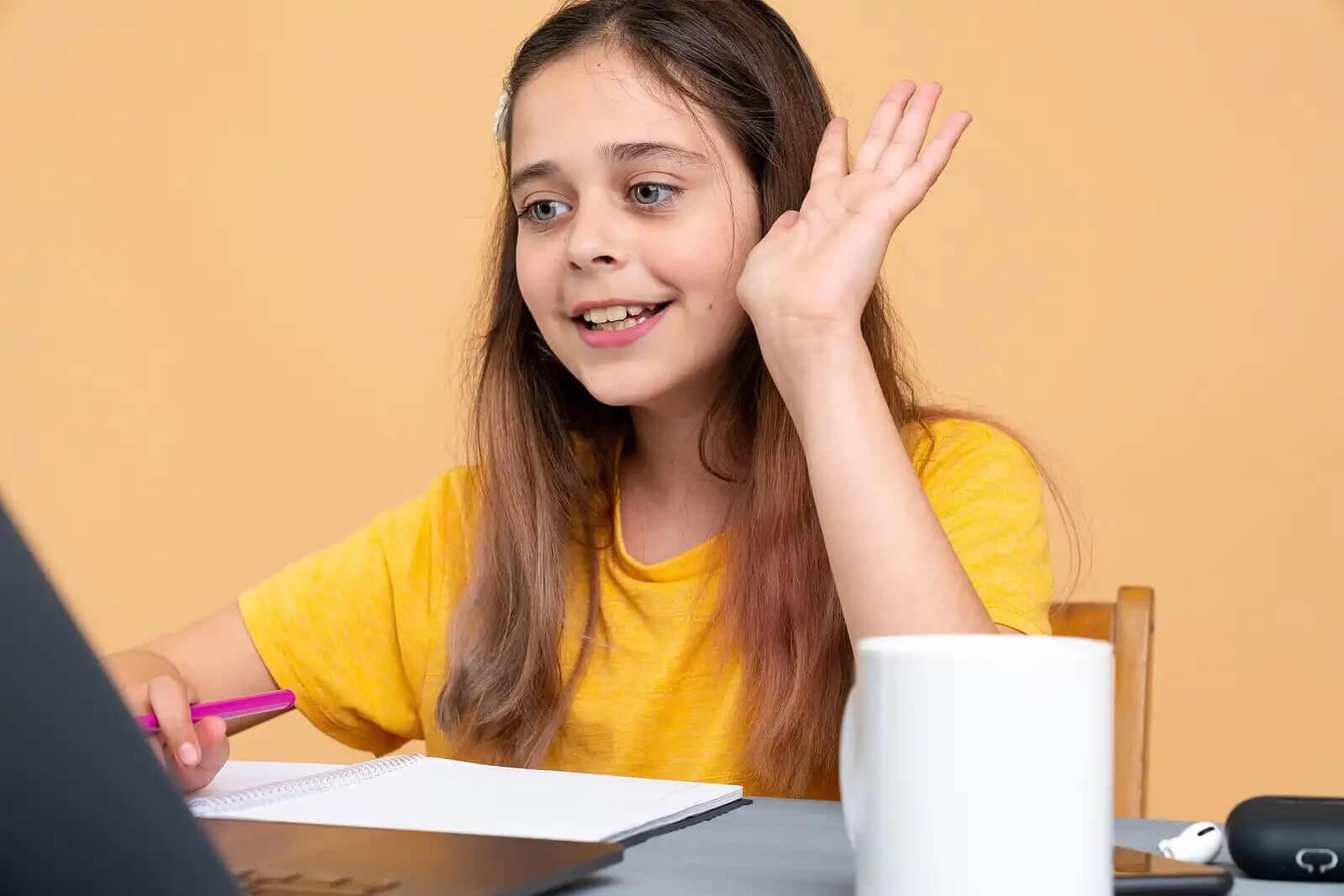 A girl online.