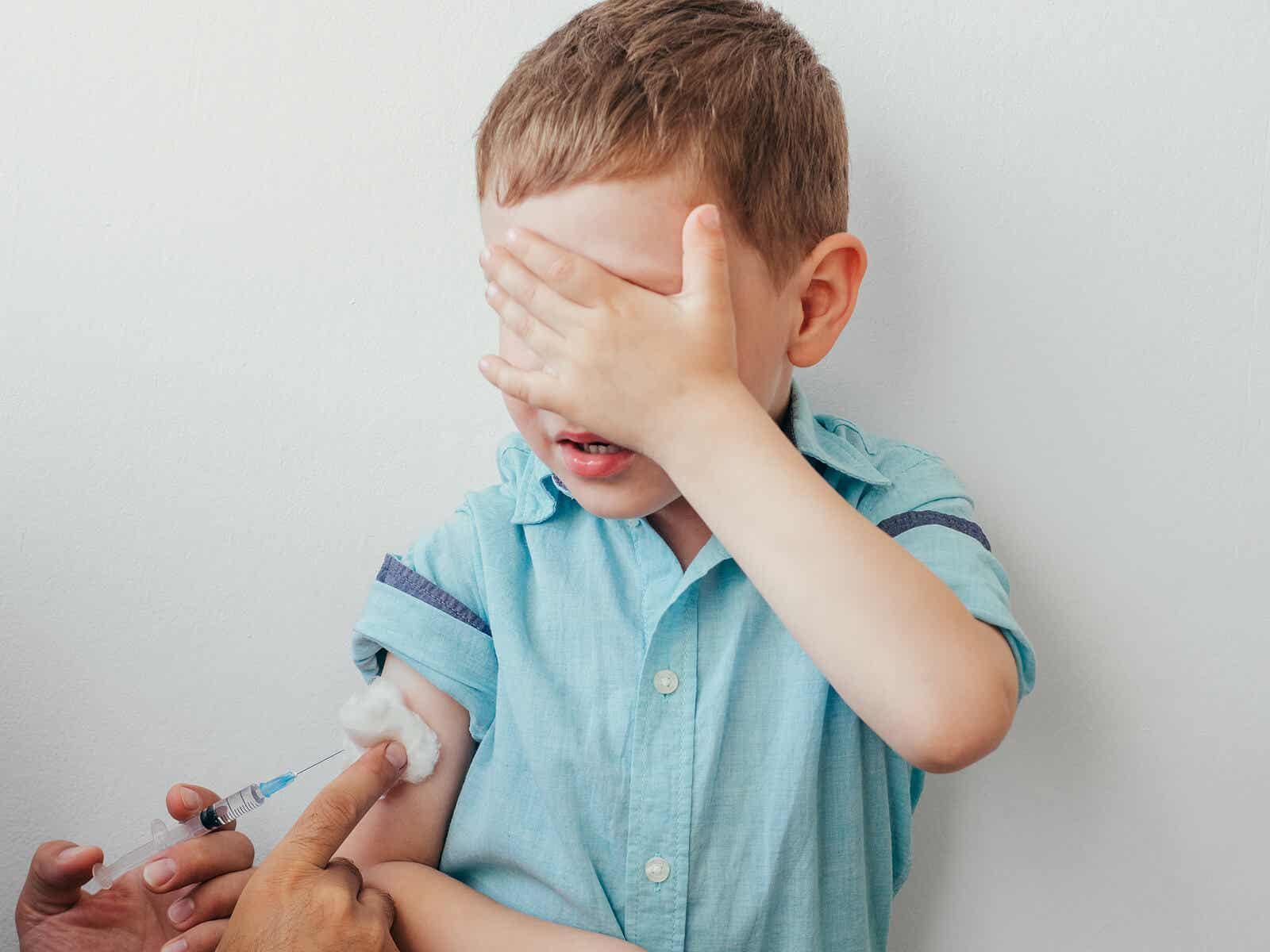 Pojke på barnläkaren.