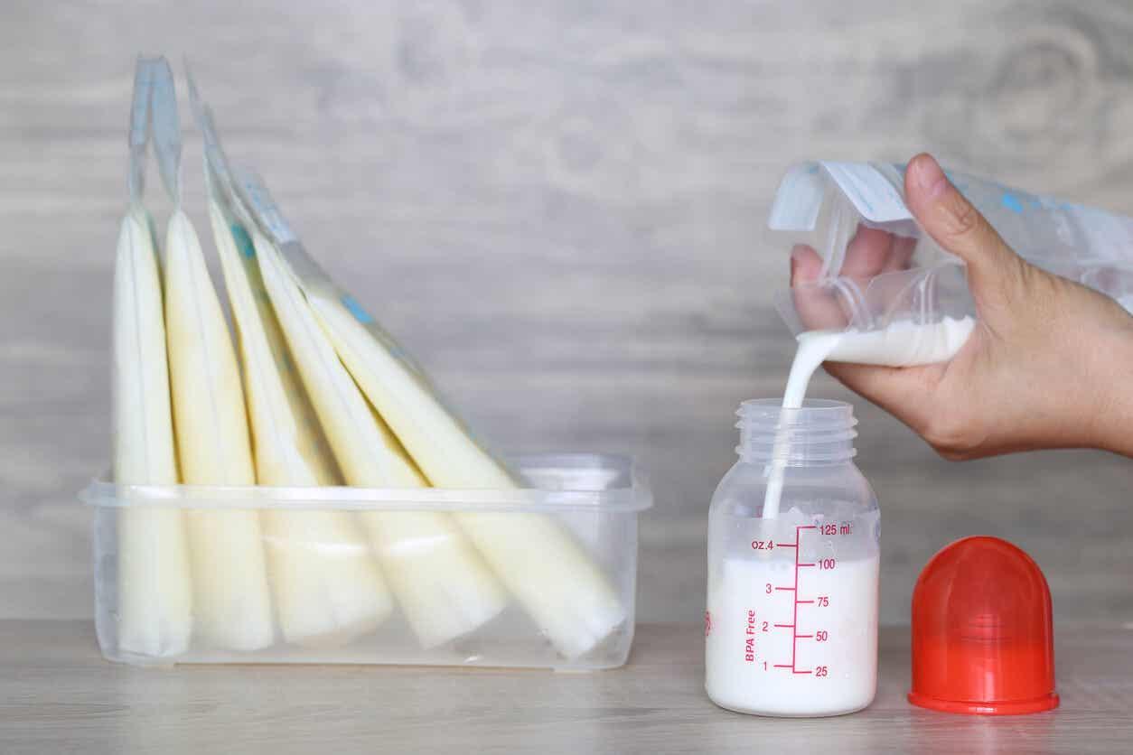 Förvaringspåsar för bröstmjölk.