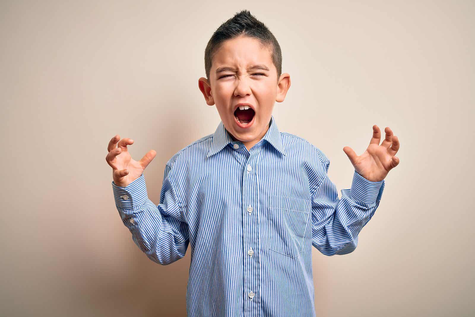 Et barn, der føler sig ude af kontrol