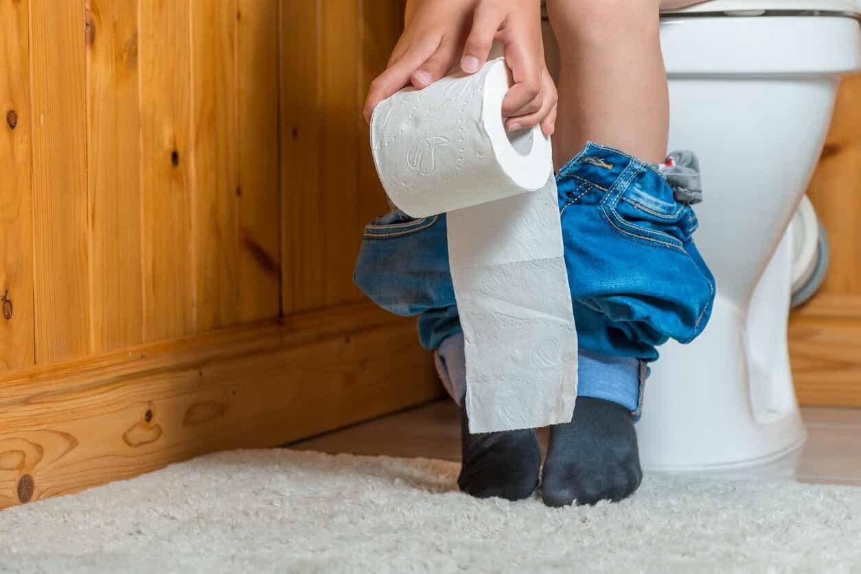 Kind met diarree door lactose-intolerantie