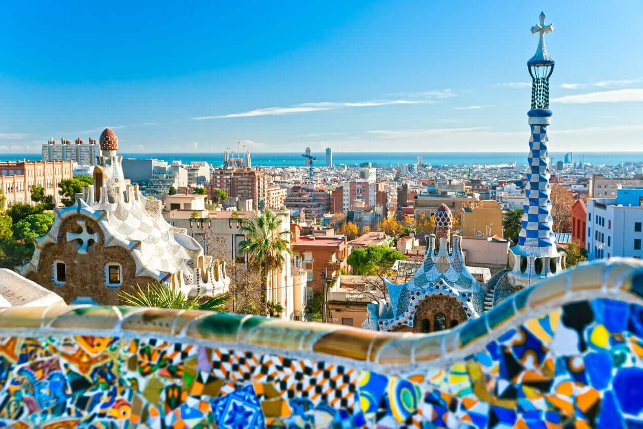 A view of Barcelona.