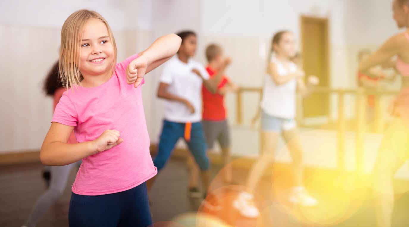 Children in a dance class.