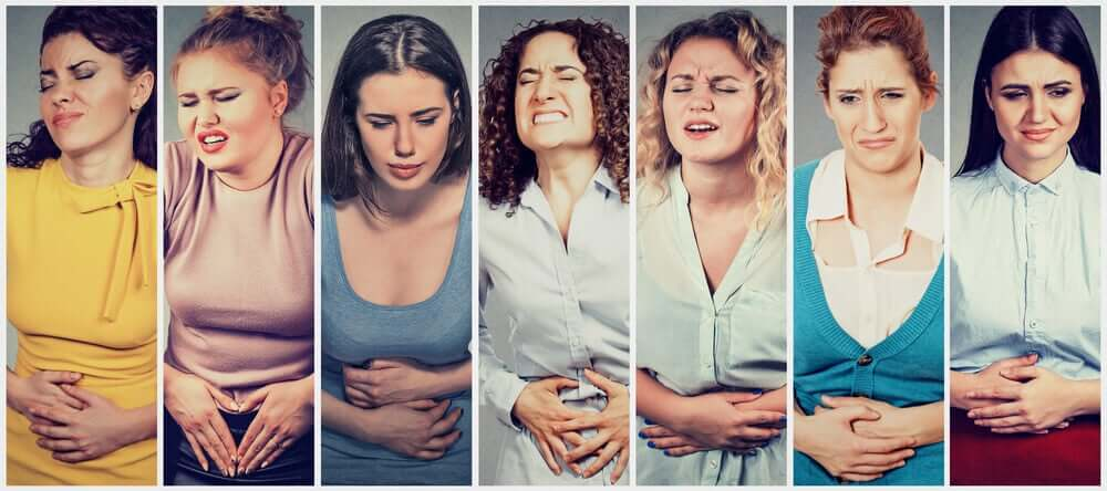 Women with abdominal pain.